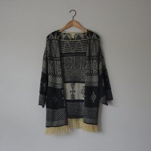 Gimmicks by Buckle Black Oversized Cardigan